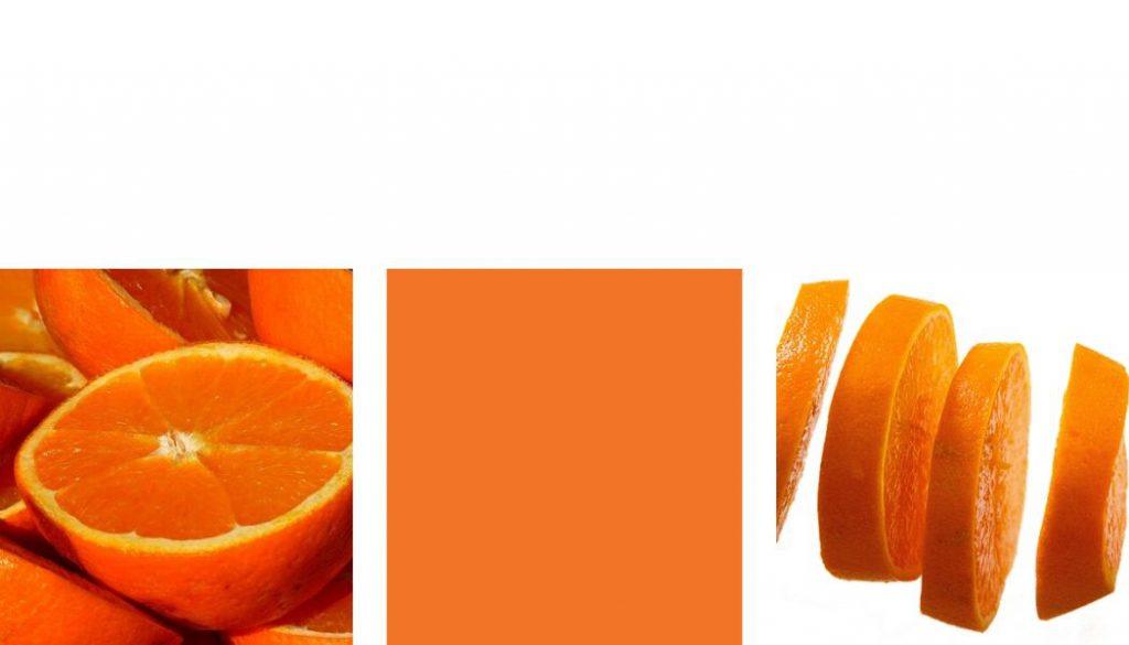 Farben kombinieren Orange