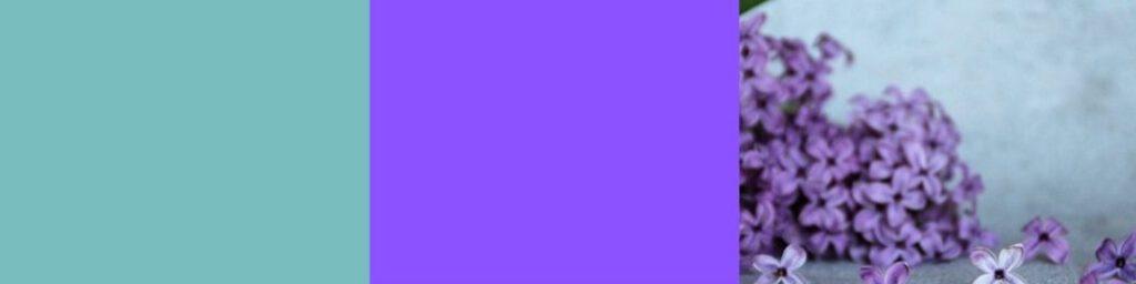 Türkis mit Violett
