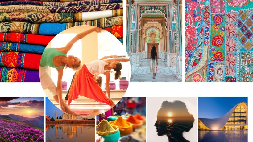 Brandingfarben für Yoga