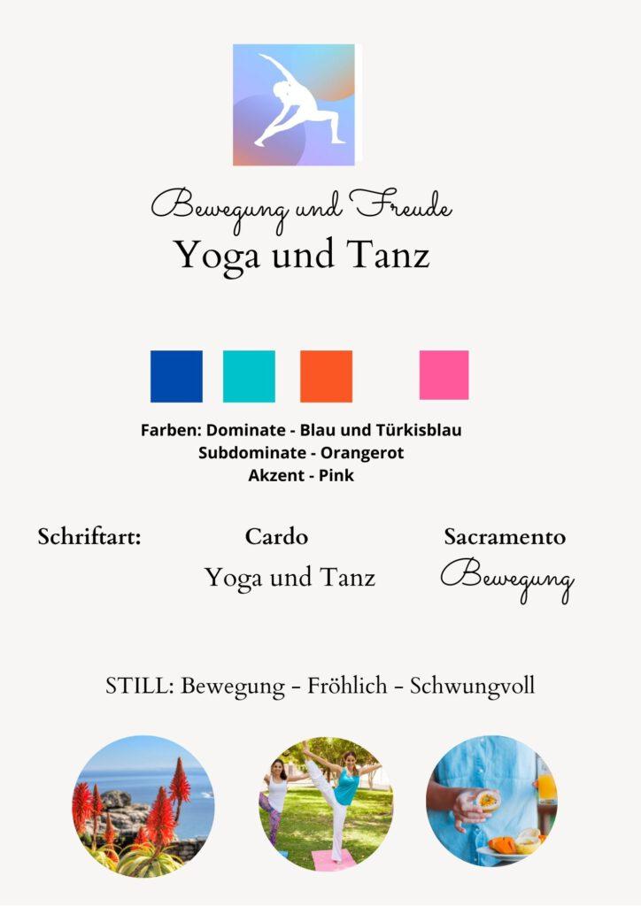 yoga fröhlich marken-farben